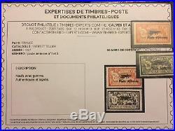 Timbre Poste Aérienne 1927 neufs signés Calves + certificat
