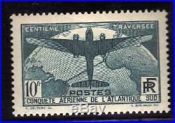 Timbre Poste Ancien 10 Fconquete Aerienne Atlantique