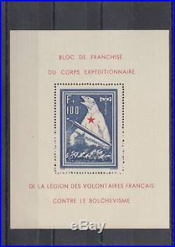 Timbre Stamp Bloc France Y&t#1 Legion Lvf Ours Neuf/mnh-mint 1941r25