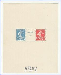 Timbre Stamp France Bloc Feuillet Y&t#2 Strasbourg Neuf/mnh-mint 1927 R39