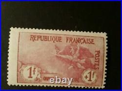 Timbre france n154 orphelins neuf avec trace de charnière et signé 2 fois. Ea