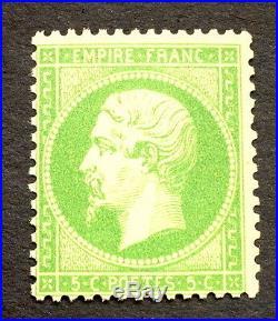 Timbre france, n°20a, 5c vert, TB neuf cote 350+50% signe Roumet qualité