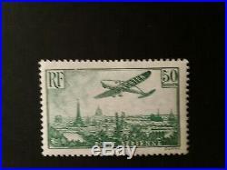 Timbre france poste aerienne n14neuf avec trace de charnière signé C. Calves. I