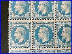 Timbres De France Classique Neuf Napoleon 20c Bleu Nº29B Variete Anneau De Lune