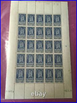 Timbres France feuille N° 399 Cathédrale de Reims x 25 1938 N/MNH SHEET