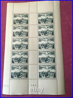 Timbres France feuille N° PA 20 Union postale x 10 1947 N/MNH SHEET