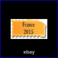 Timbres France neufs 2015 année complète