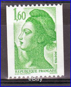 VARIETE FRANCE N° YVERT 2222b/ N° MAURY 2221h TYPE LIBERTE NEUFS LUXE
