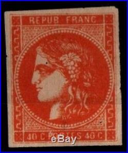 Variété CERES 48f Ocre, Neuf SG = Cote 2.250 / Lot Classique France Bordeaux
