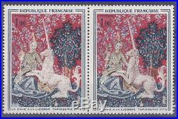 Variete France N° Yvert 1425 Dame A La Licorne Neufs Luxe