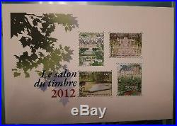 Variete-bloc-salon-du-timbre-2012-sans-dorure-luxe Cote 3000 / 3500 Euros