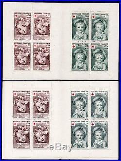 Variété carnets n°2011 et 2011a N Croix-Rouge 1962 (cote 972)