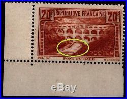 Variété du PONT du GARD IIB, Neuf = Cote 765 / Lot Timbre France 262