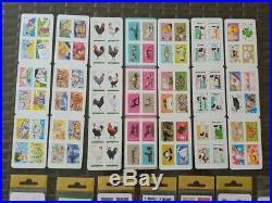 Vends ma collection lot de 36 carnets adhésifs neufs différents non pliés