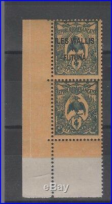 Wallis et Futuna (Protectorat Français) n° 3 a neuf tenant à non surchargé